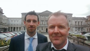 Peter Fitzpatrick (left) and Kevin Shortall (right) attending a recent private members motion on the withdrawl of medical cards.